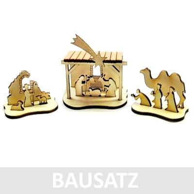 """Mini-Krippe """"Komplettsatz"""" - Holz BAUSATZ 017"""